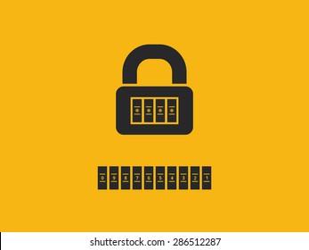 Combination lock with password