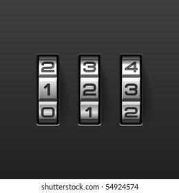 Combination lock. Vector illustration.