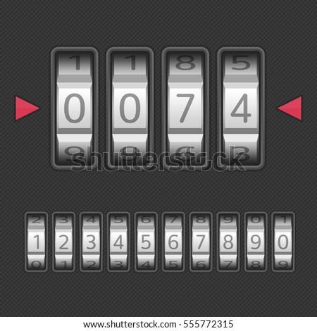 combination number code lock vector illustration のベクター画像素材
