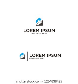 combination oak logo vector illustration with home, suitable for financial, accounting, business, travel companies and others