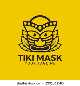 A combination of Tiki Mask and a shopping cart to make one logo or icon. Suitable for hawaiian store