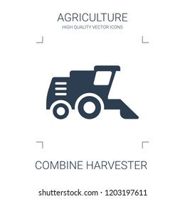 combine harvester icon. high quality filled combine harvester icon on white background. from agriculture collection flat trendy vector combine harvester symbol. use for web and mobile