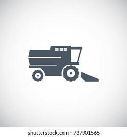 Combine harvester icon vector symbol