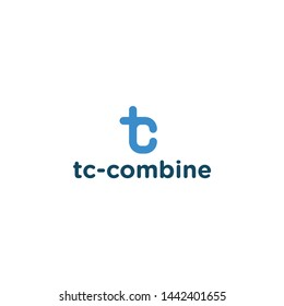 Combine letter t and c to be creative logo design