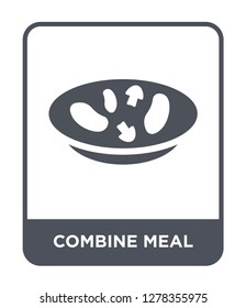 combine meal icon vector on white background, combine meal trendy filled icons from Bistro and restaurant collection, combine meal vector illustration