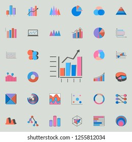 Combined chart icon. Charts & Diagramms icons universal set for web and mobile