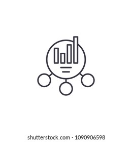 Combined chart linear icon concept. Combined chart line vector sign, symbol, illustration.