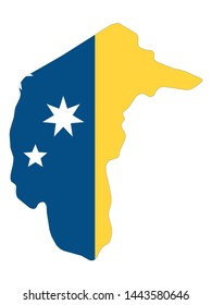 Combined Map and Flag of the Australian Capital Territory