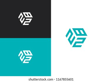 Combined number 282, vector element of the icon template. Set of numbers can be used as a city birthday or as a sports number for competitions. Simple creative geometric sign. Emblem for your design.