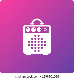 combo amplifier vector icon. combo amplifier single web icon on trendy gradient