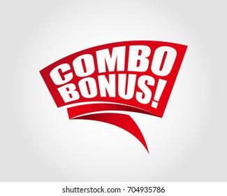 Combo bonus labels banners
