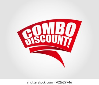 Combo discount labels banners