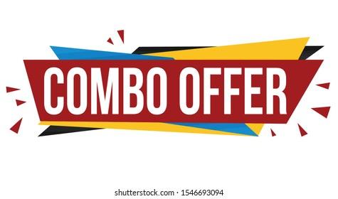 Combo offer banner design on white background, vector illustration