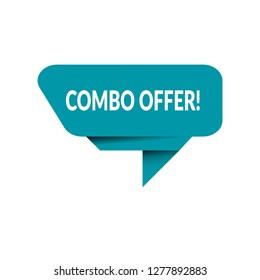 Combo offer sign, emblem, label, badge,sticker. Combo offer paper origami speech bubble. Combo offer tag. Combo offer banner. Designed for your web site design, logo, app, UI - Vektor