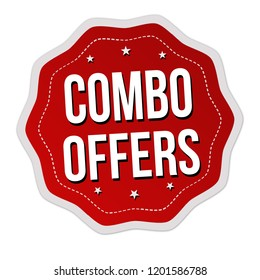 Combo offers label or sticker on white background, vector illustration