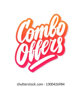 Combo offers. Vector lettering.