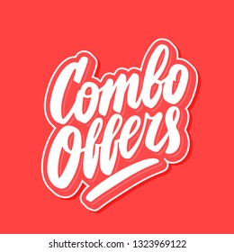 Combo offers. Vector lettering banner.