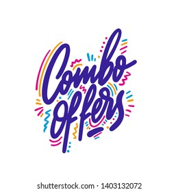 Combo offers. Vector lettering. Modern brush calligraphy.