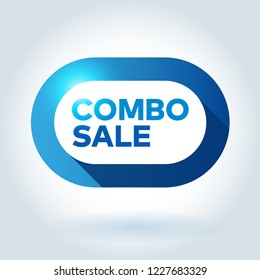 COMBO SALE capsule symbol. Isolated modern graphic style vector illustration.