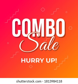 Combo Sale Shopping Offers Web Banner Template Vector