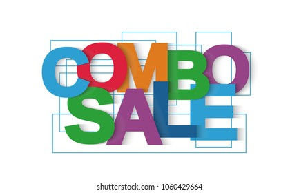 Combo sale vector letters