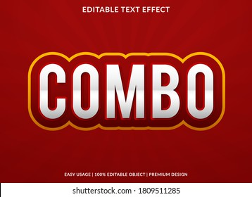 combo text effect template design with bold font style and modern concept use for brand and business logo