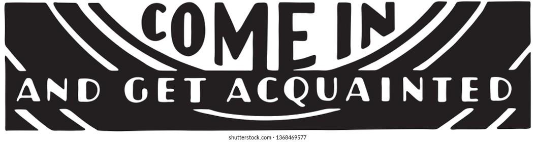 Come In  - Retro Ad Art Banner