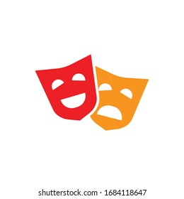comedy mask icon design isolated on white background