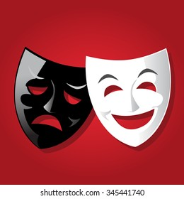 Comedy theater Mask - vector illustration