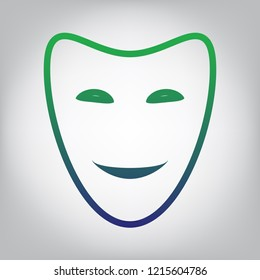 Happy and Sad Face Mask Stock Illustrations, Images & Vectors