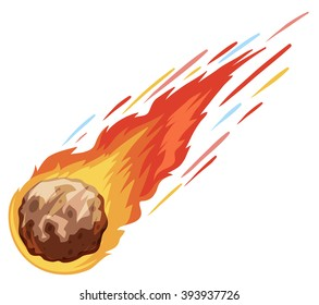 Comet falling down fast illustration