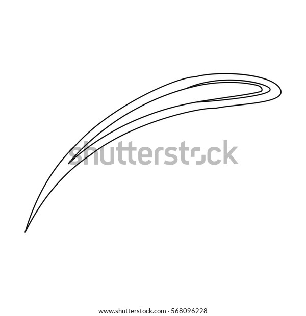 Comet Halley icon in outline style isolated on white background. Planets symbol stock vector illustration.