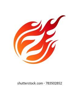 Comet Letter Z Initial Logo