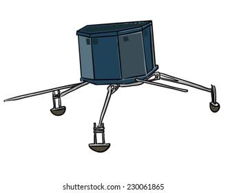 Comet Probe Satellite - Vector Illustration