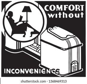 Comfort  - Retro Ad Art Banner