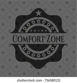 Comfort Zone black emblem. Vintage.
