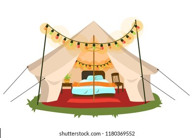 Comfortable marquee with conveniences