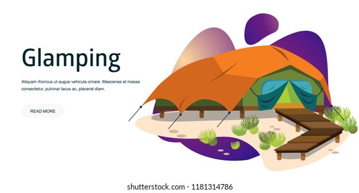 Comfortable modern tent poster