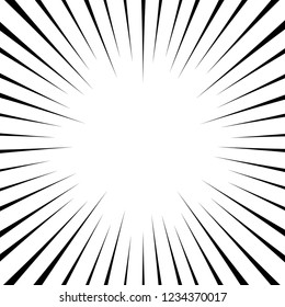 Comic action lines background vector