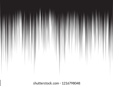 Comic action lines. Manga or anime graphic texture. Black and white vector background