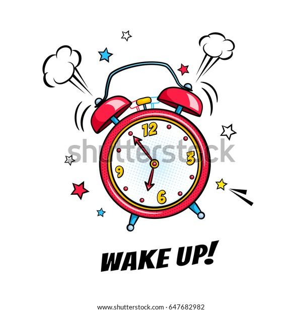 Disegno Sveglia Che Suona.Immagine Vettoriale Stock 647682982 A Tema Sveglia Fumetto Che