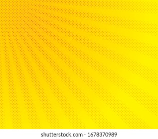 Comic background lighting blast halftone dots. Abstract blue striped retro comic background with halftone angles. Cartoon comic characters. Vector illustration.