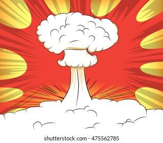 Comic book atomic explosion