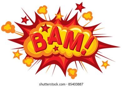 Comic book bam explosion