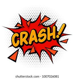 Comic book crash effect