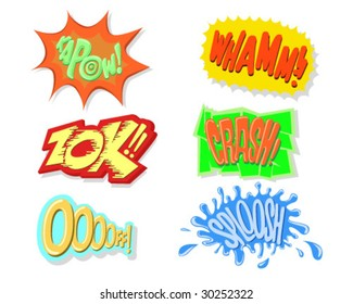 Comic Book Exclamation Sounds - Vector Illustrations