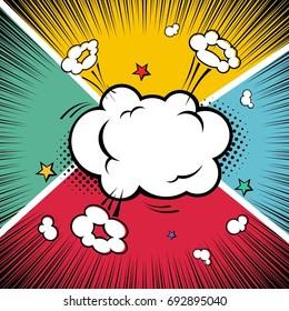Comic book. Exploding cloud concept
