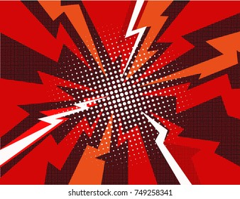 Comic book explosion ray background vector illustration