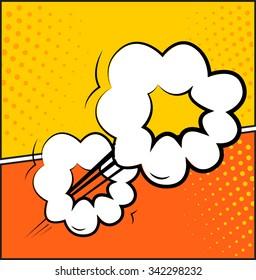 Comic book explosion set