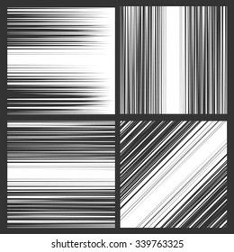 Comic book speed horizontal, vertical and diagonal lines background
